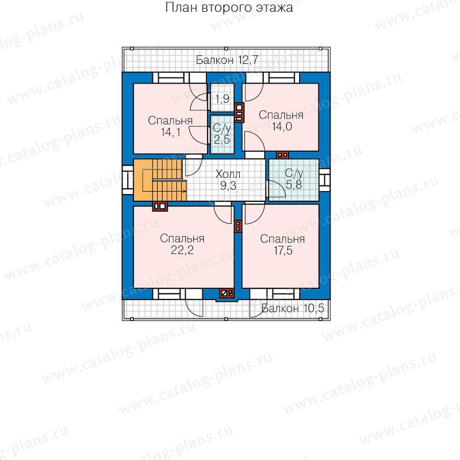 План 3-этажа проекта 59-98B