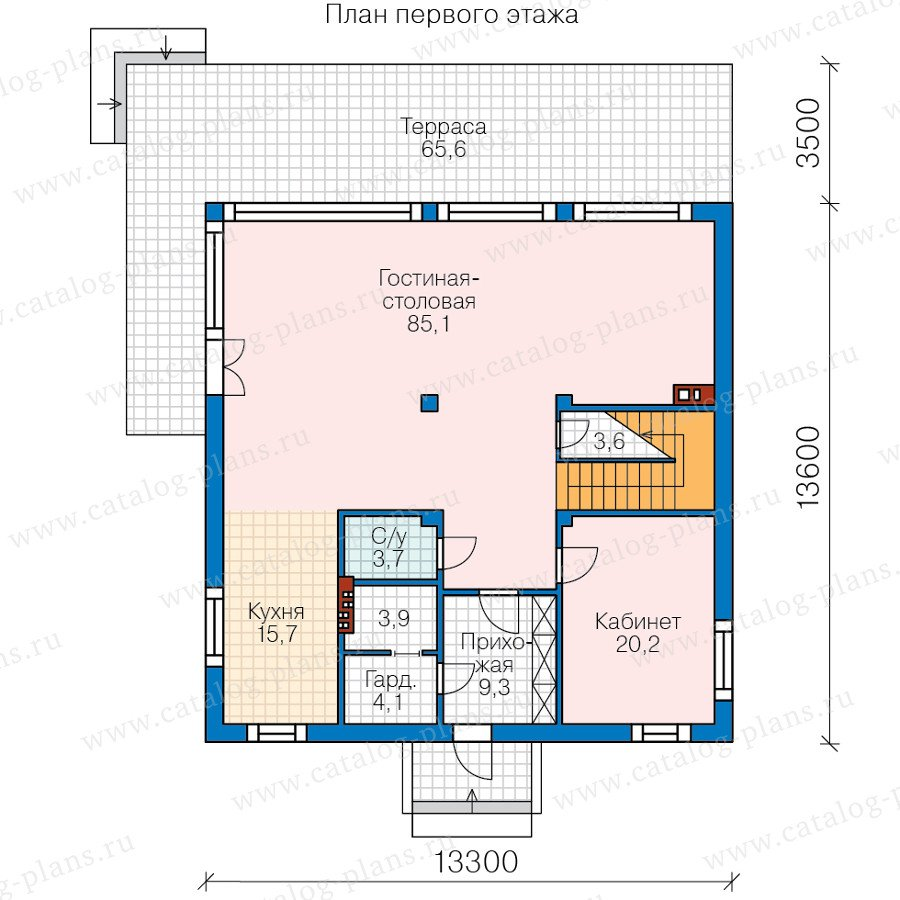 План 1-этажа проекта 60-88