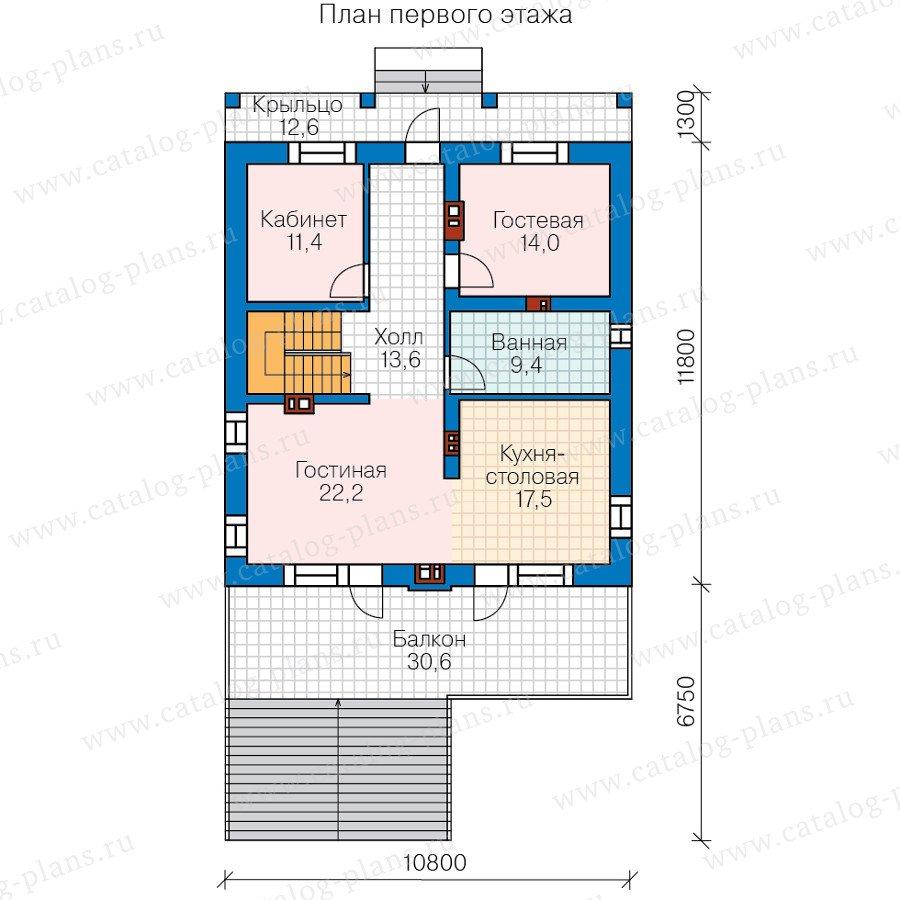 План 2-этажа проекта 59-98B