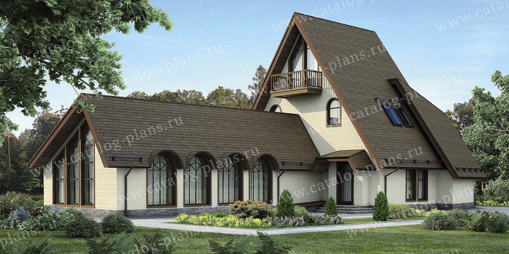 Проект жилой дом #54-46 материал - газобетон, стиль европейский
