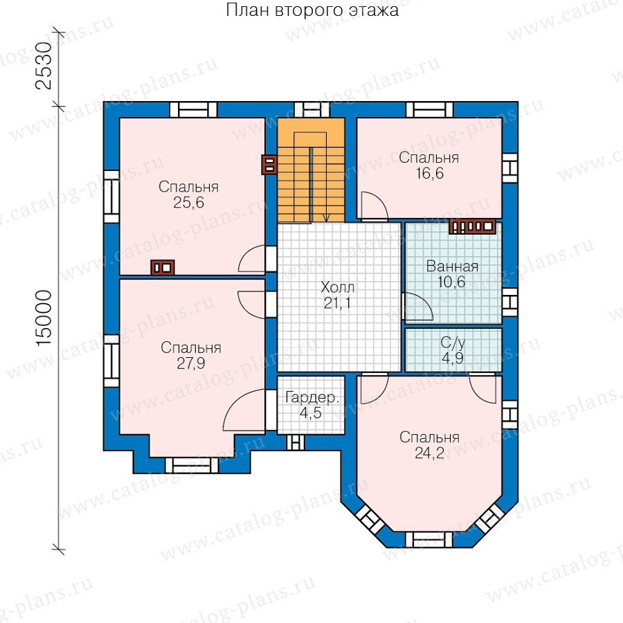 План 2-этажа проекта 40-53