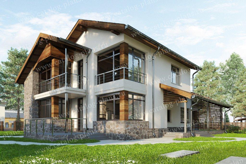 Проект жилой дом #47-57 материал - кирпич, стиль хай тек