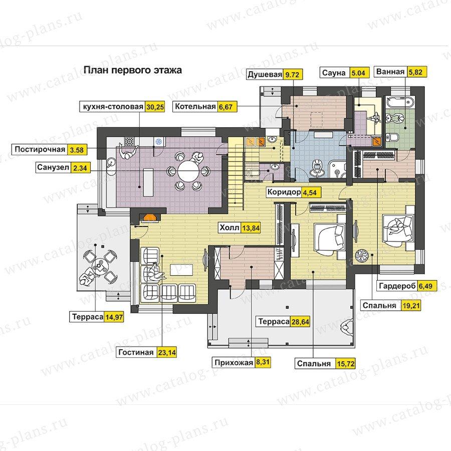 План 1-этажа проекта 47-57