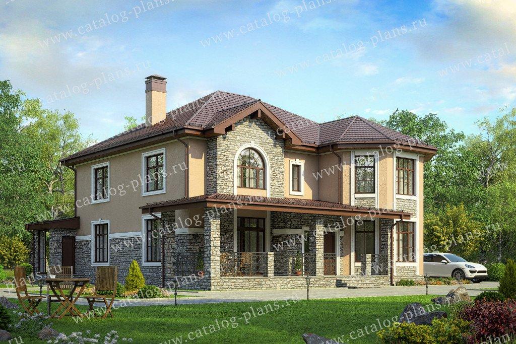 Проект жилой дом #40-53G материал - газобетон, стиль классический