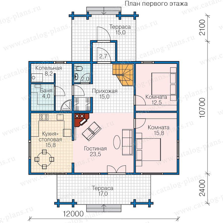 План 1-этажа проекта 13-64