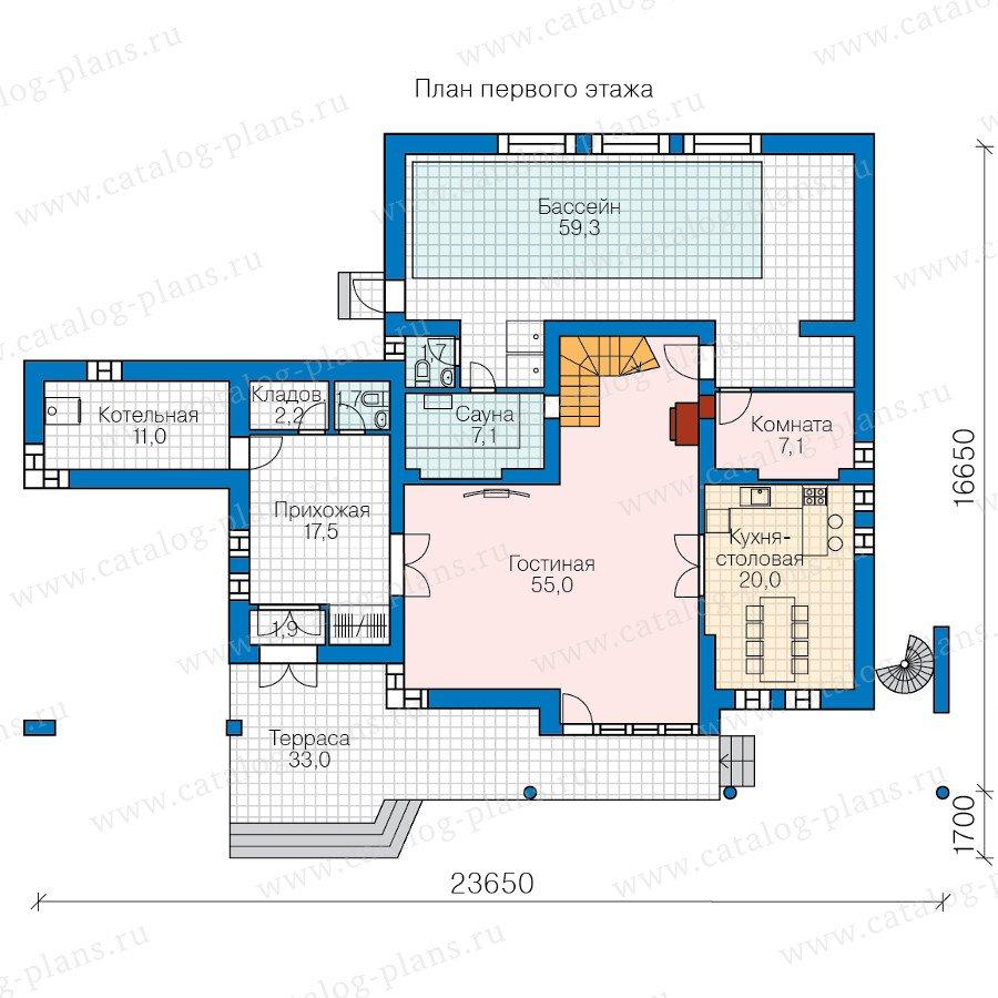 План 1-этажа проекта 47-56