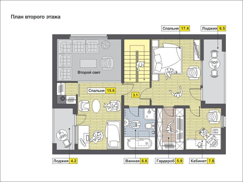 План 2-этажа проекта 49-71KR