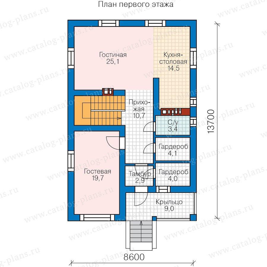 План 2-этажа проекта 59-90A