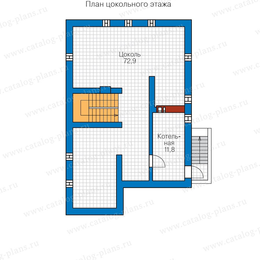 План 1-этажа проекта 59-90A