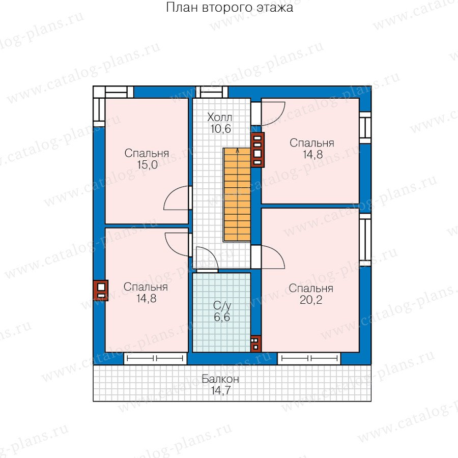План 2-этажа проекта 58-68