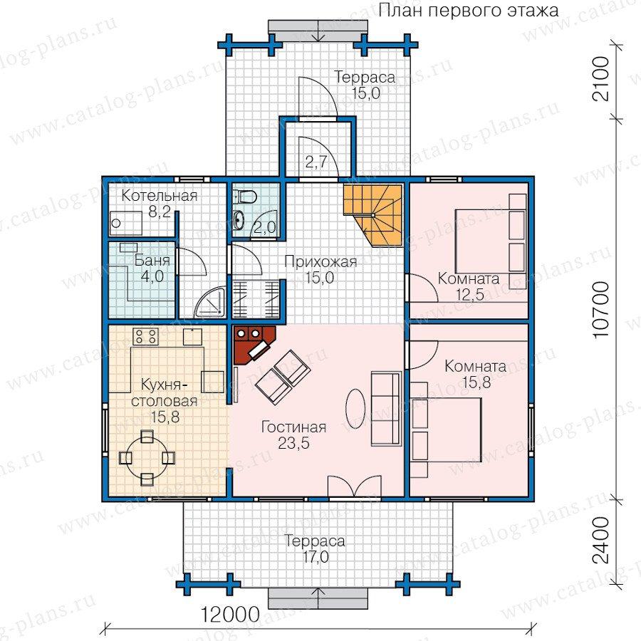 План 1-этажа проекта 13-63
