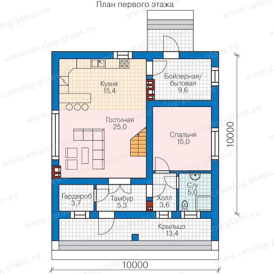 План 1-этажа проекта 58-68
