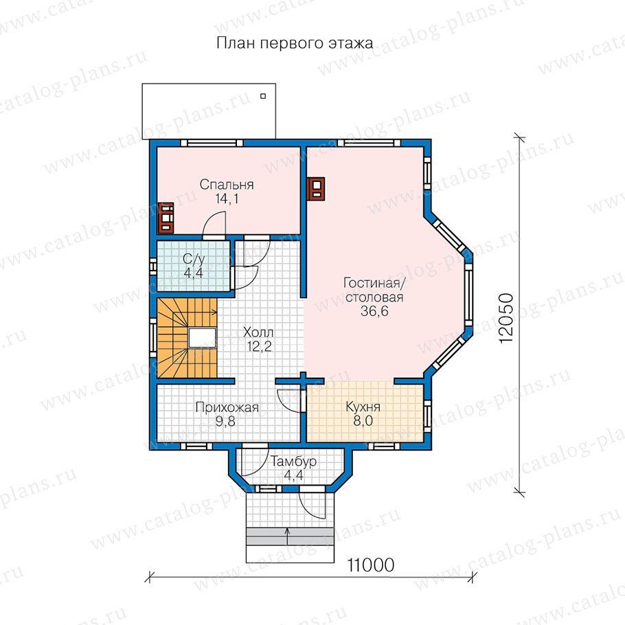 План 2-этажа проекта 13-60