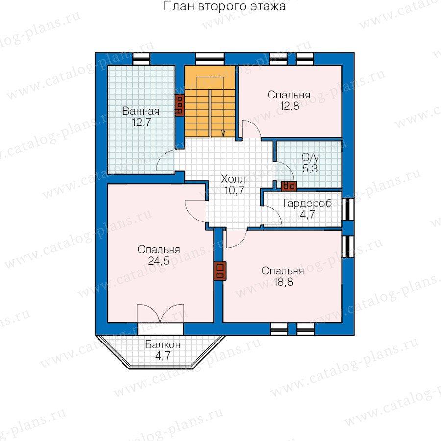 План 2-этажа проекта 40-23L