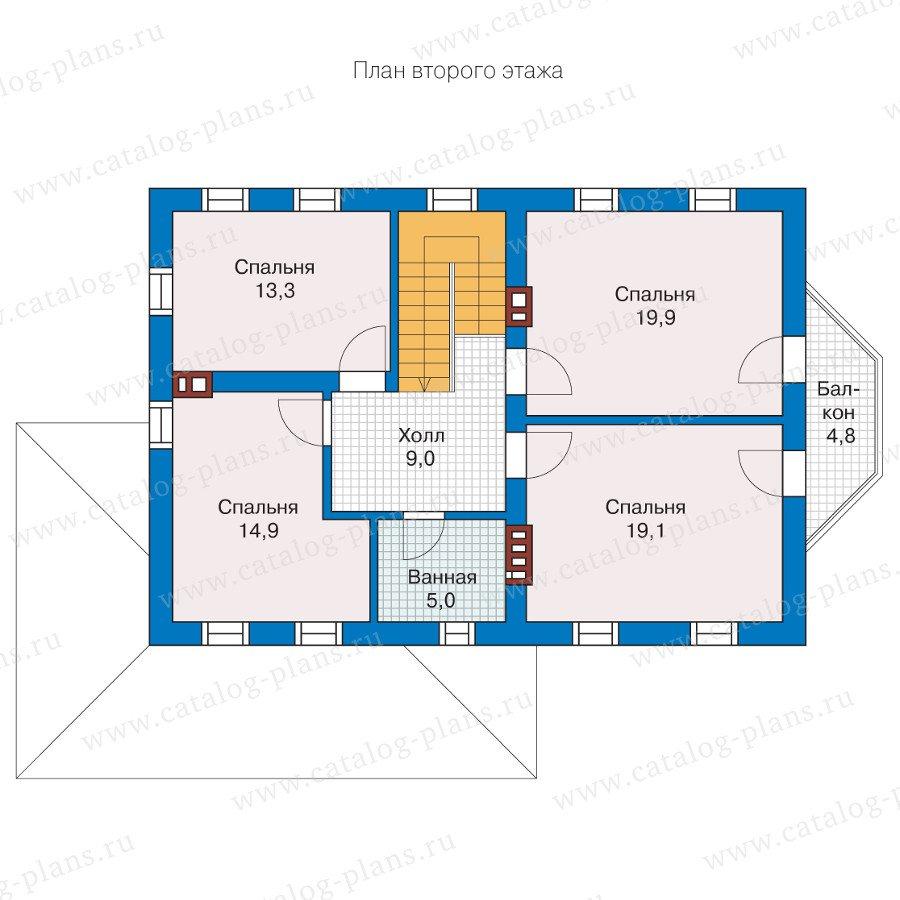 План 2-этажа проекта 57-29L