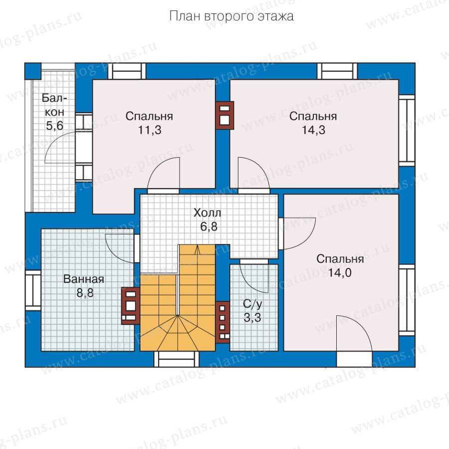 План 2-этажа проекта 57-07L