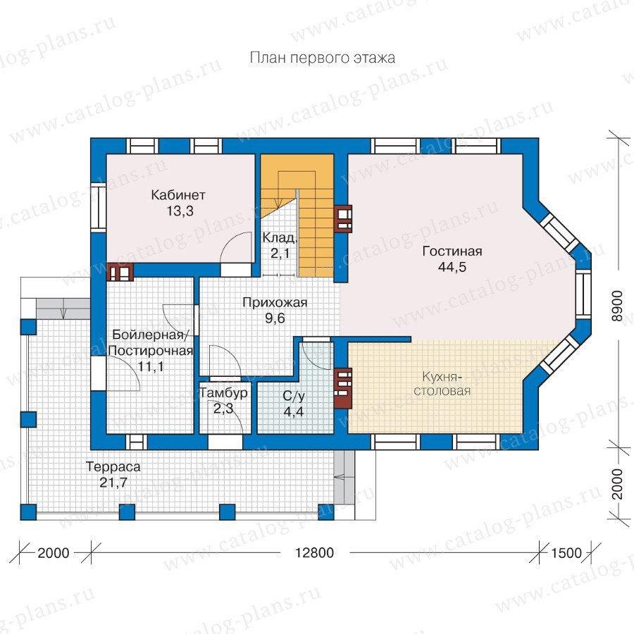 План 1-этажа проекта 57-29L