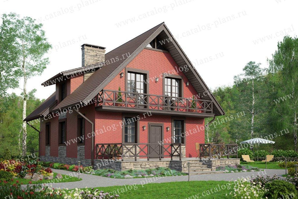 Проект жилой дом #59-99L материал - газобетон, стиль скандинавский