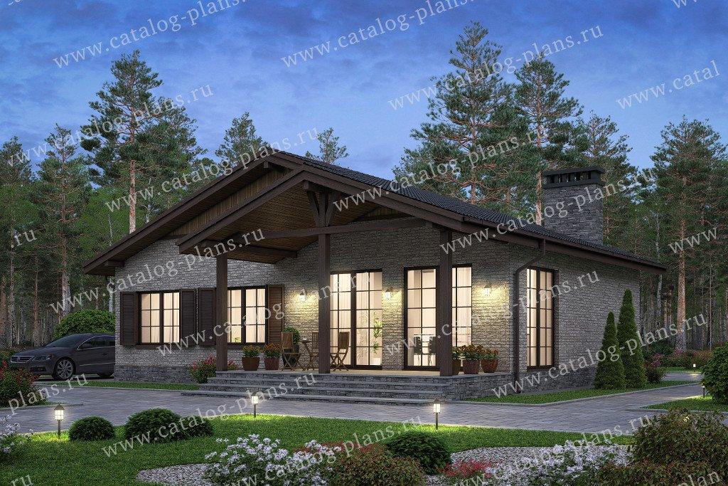 Проект жилой дом #58-70 материал - газобетон, стиль шале