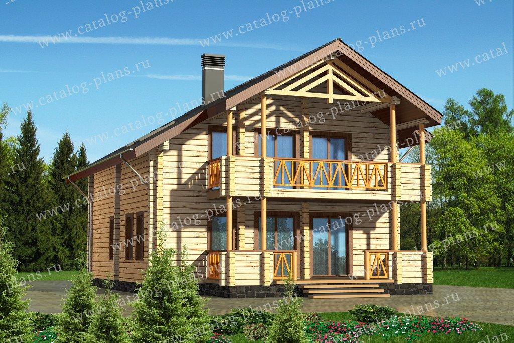 Проект жилой дом #13-65 материал - дерево, стиль шале