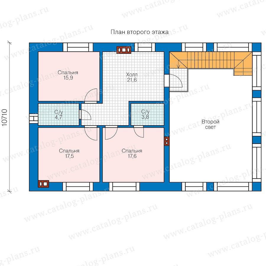 План 2-этажа проекта 40-64L