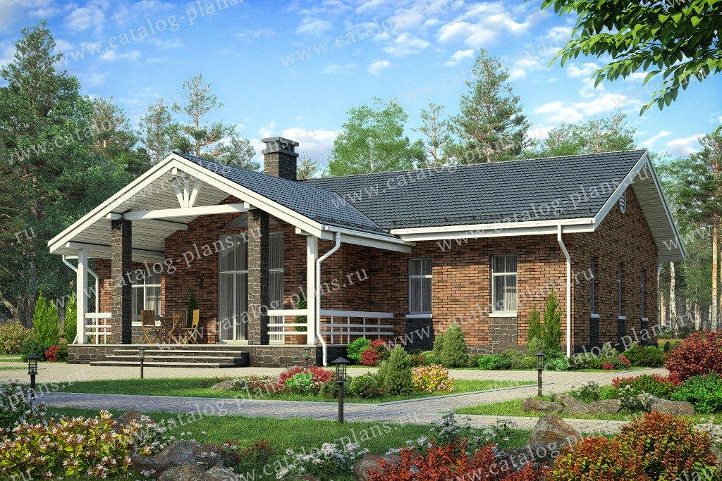 Проект жилой дом #40-62L материал - кирпич, стиль норвежский
