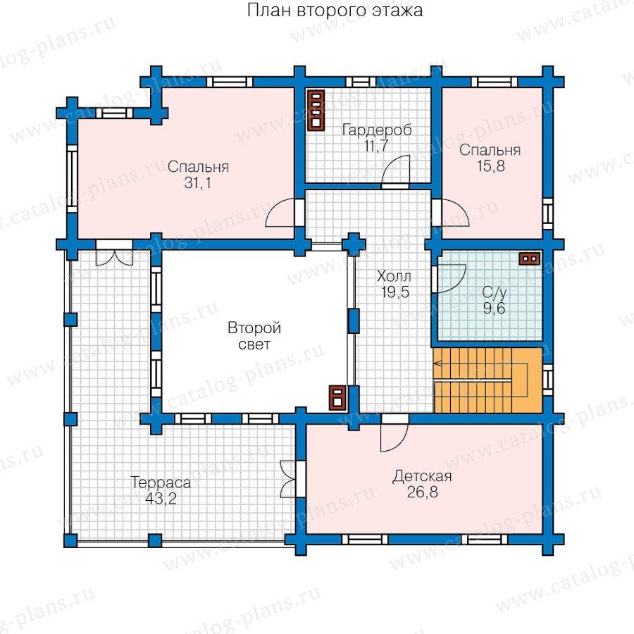 План 2-этажа проекта 80-17