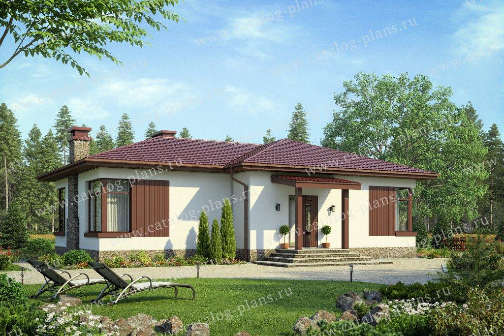 Проект жилой дом #58-69 материал - газобетон, стиль современный