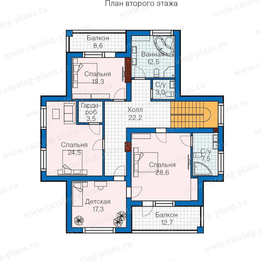 План 2-этажа проекта 57-58