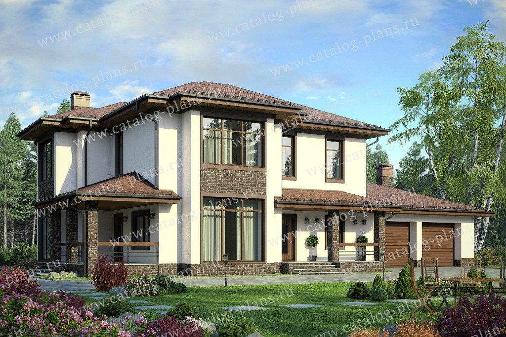 Проект жилой дом #40-61 материал - кирпич, стиль современный