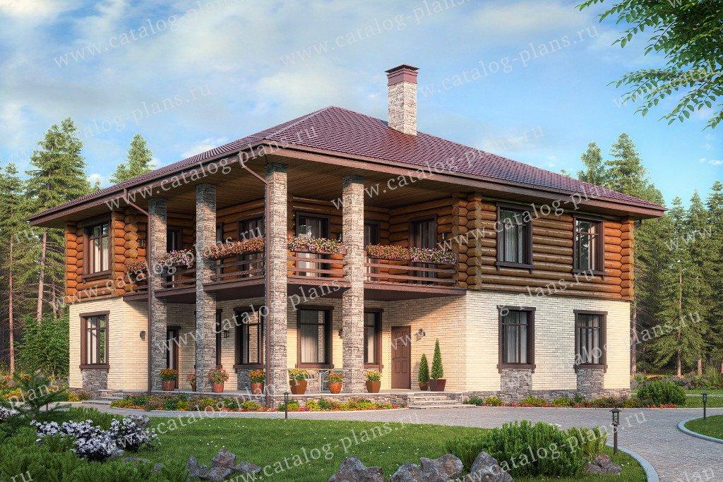Проект жилой дом #80-17 материал - комбинированный, стиль скандинавский