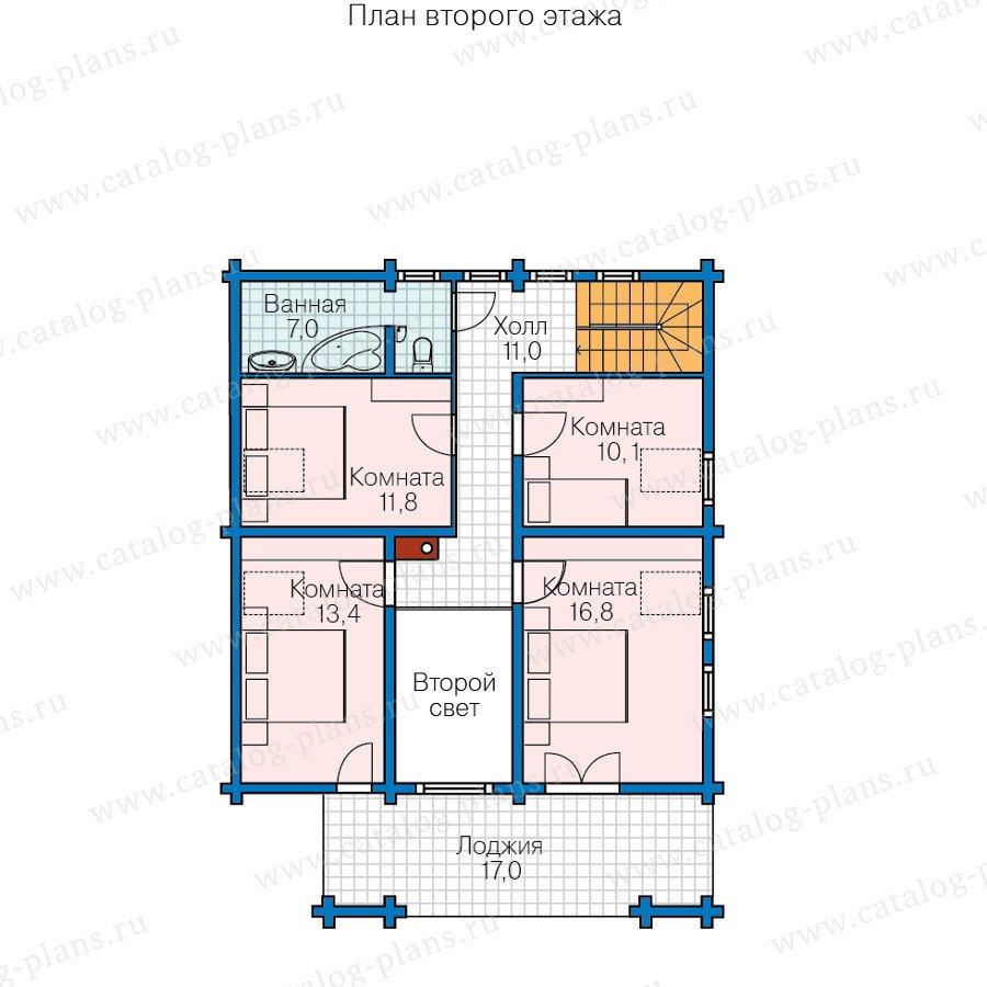 План 2-этажа проекта 13-65