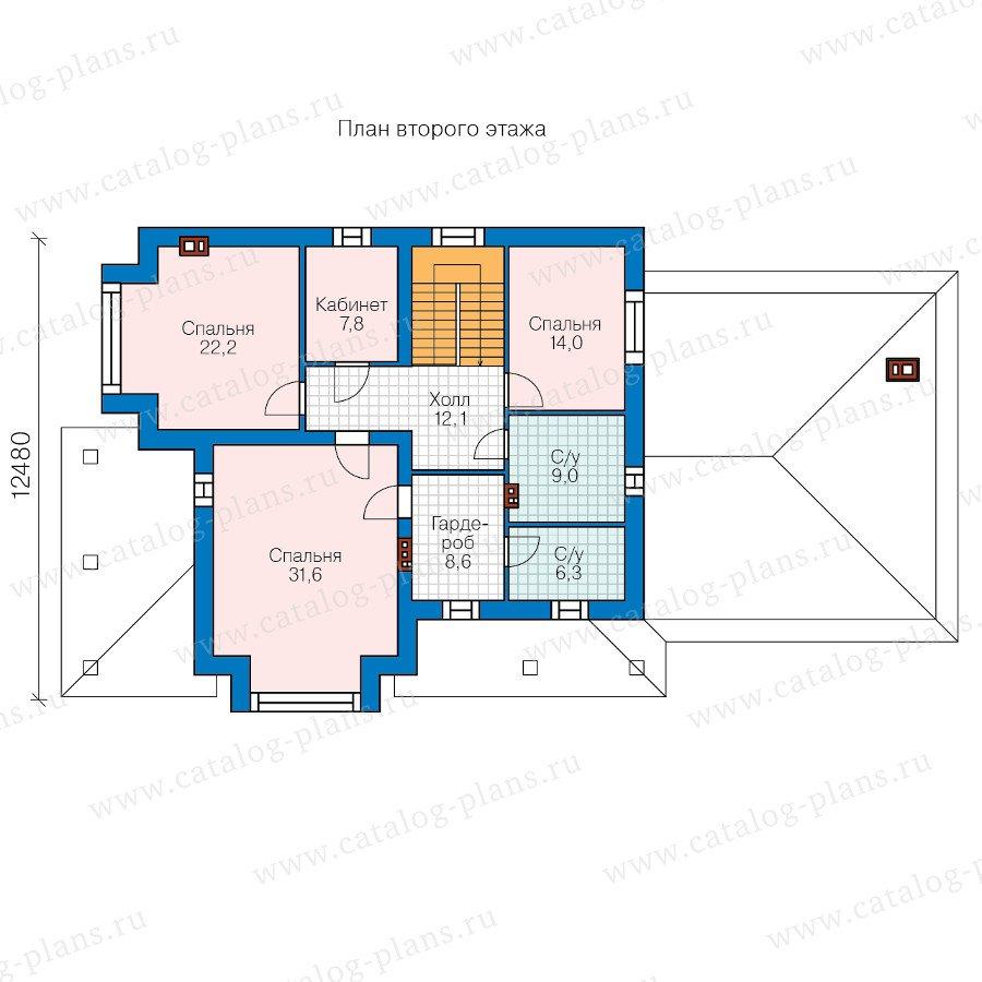 План 2-этажа проекта 40-61