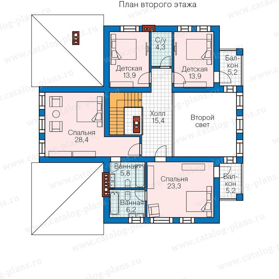 План 2-этажа проекта 57-82L