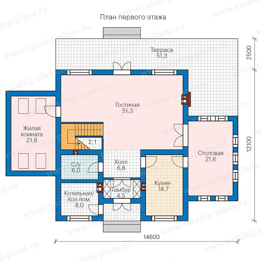 План 1-этажа проекта 57-88L