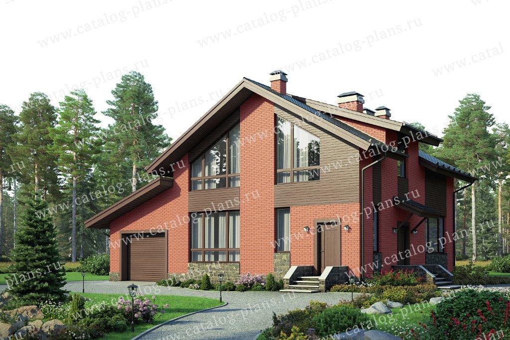 Проект жилой дом #58-21AL материал - газобетон, стиль современный