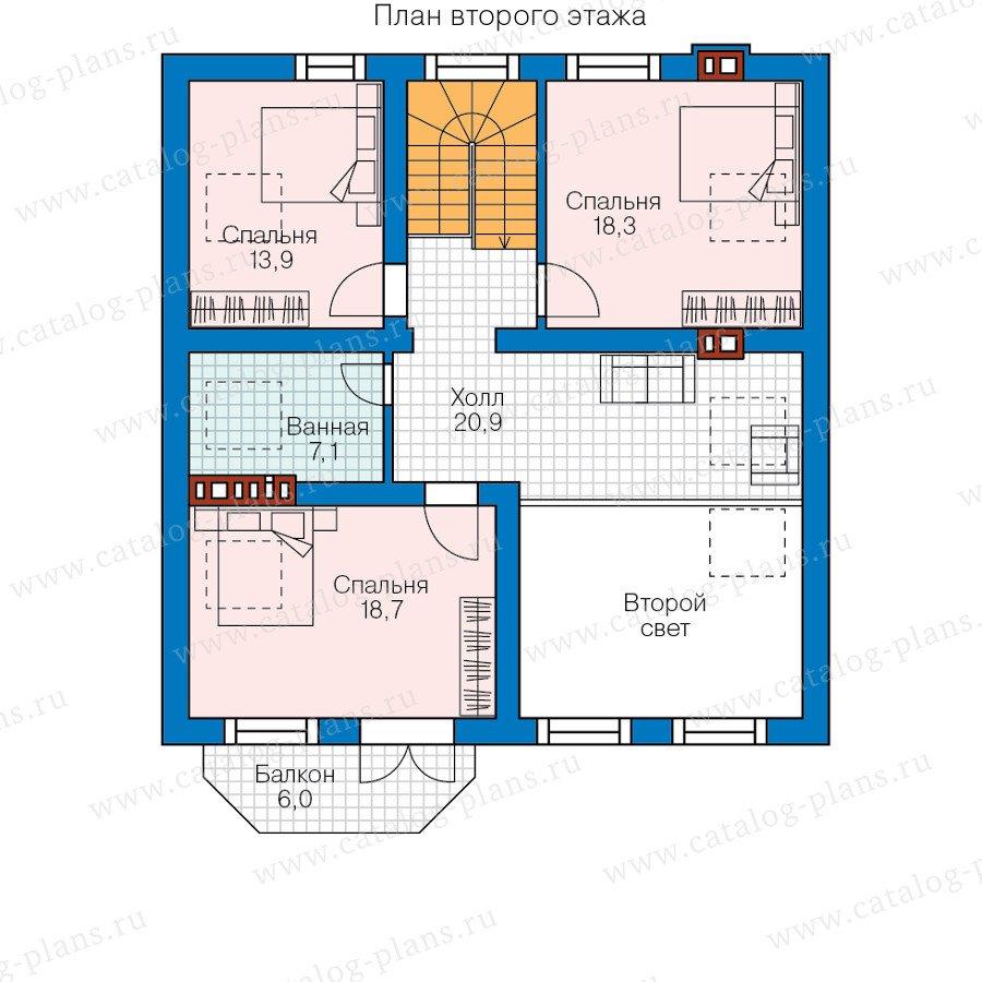 План 2-этажа проекта 58-23L