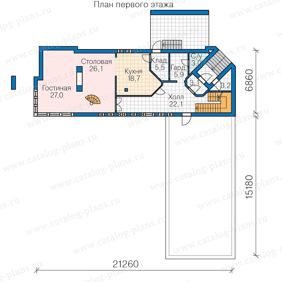 План 2-этажа проекта 60-91