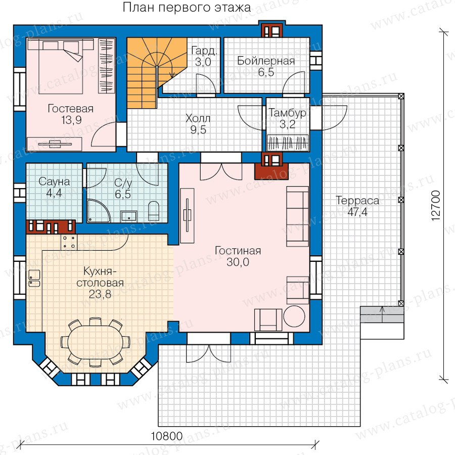 План 1-этажа проекта 58-23L