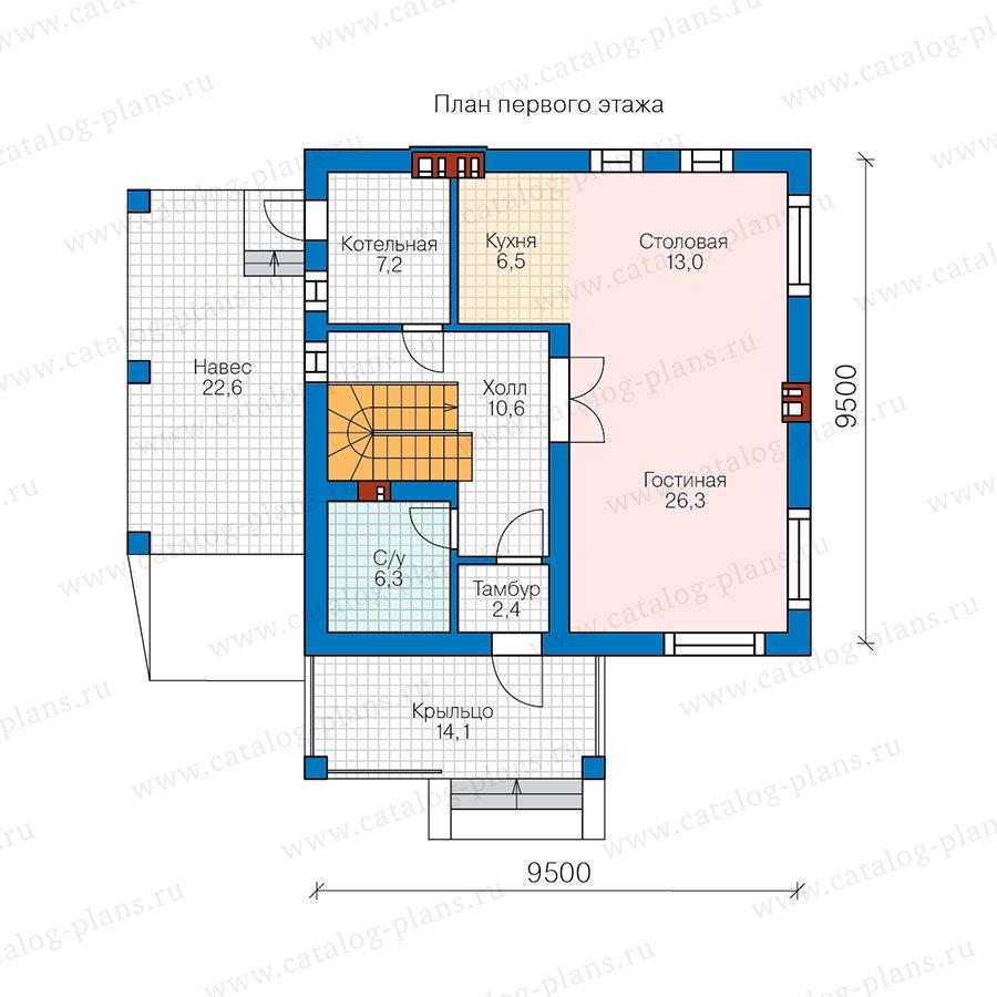 План 1-этажа проекта 57-91AK