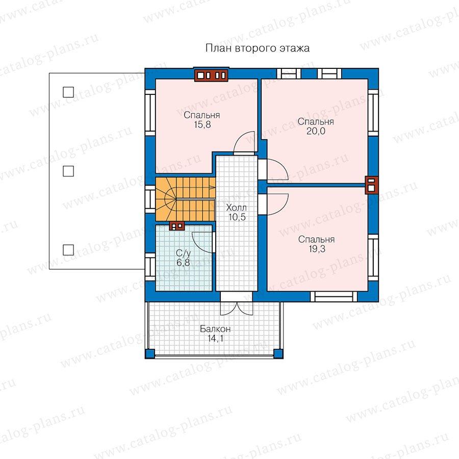 План 2-этажа проекта 57-91AK