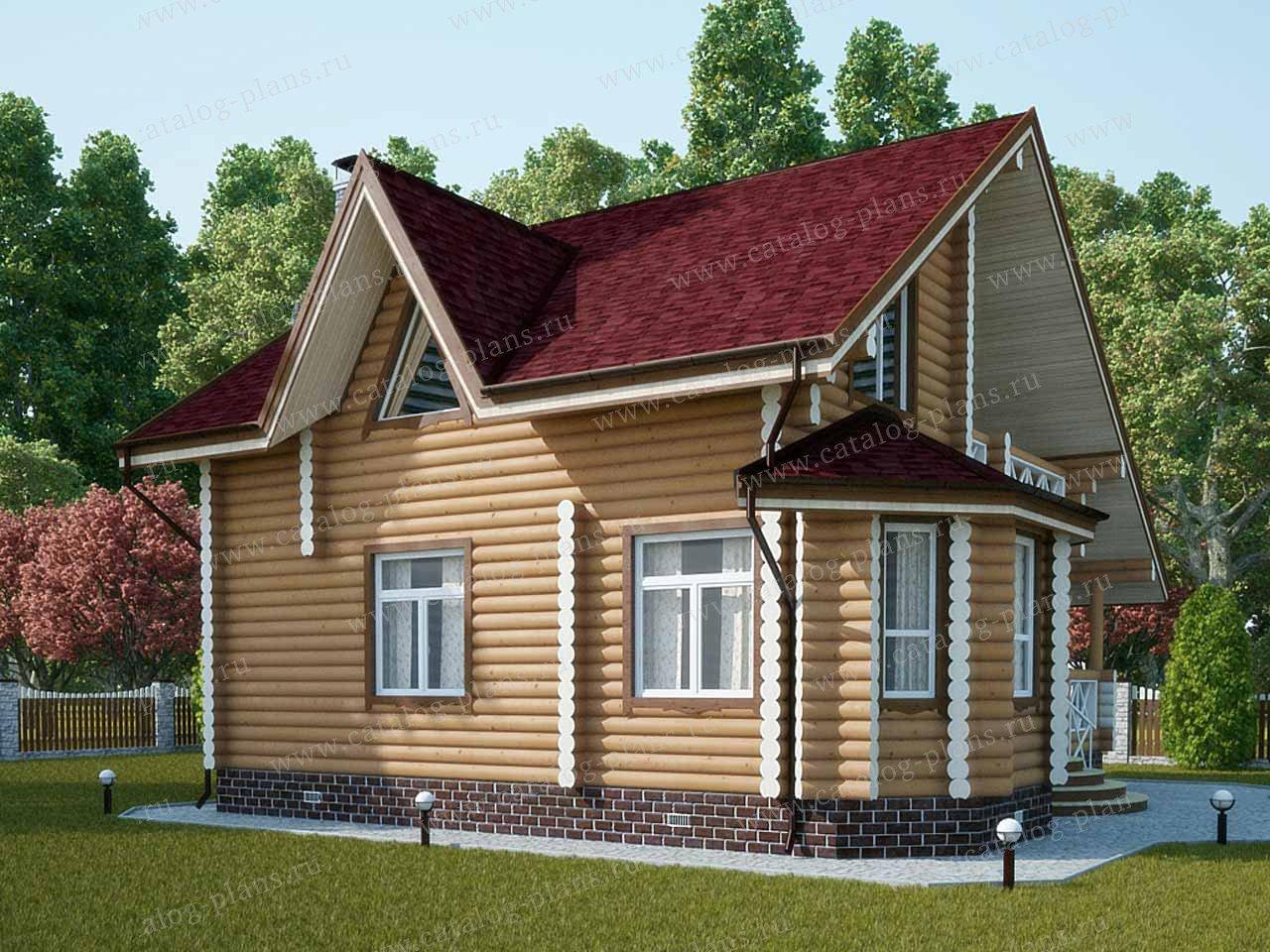 Проект жилой дом #13-15 материал - дерево, стиль европейский