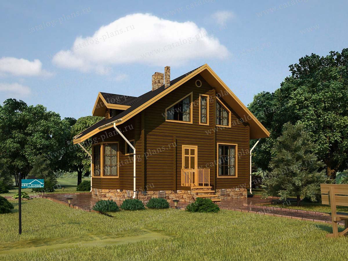 Проект жилой дом #13-14 материал - дерево, стиль скандинавский