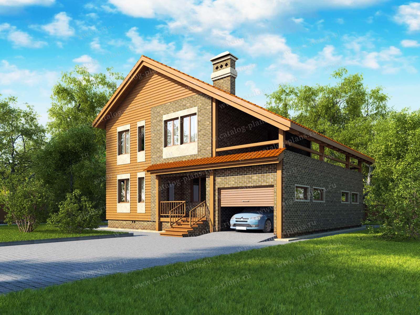 Проект жилой дом #13-11 материал - дерево, стиль европейский
