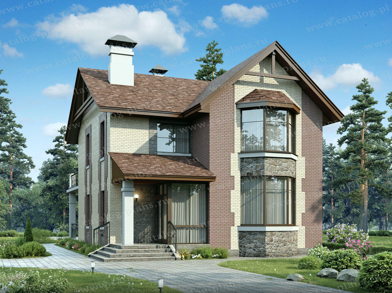 Проект двухэтажного кирпичного дома 47-14 в европейском стил.