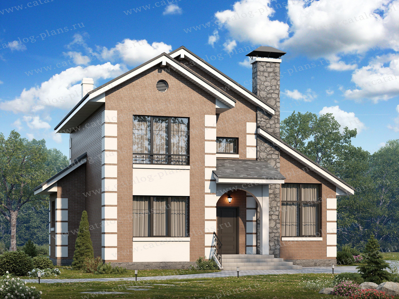 Проект жилой дом #47-05 материал - кирпич, стиль европейский