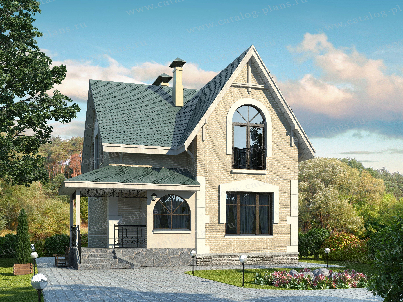 Проект жилой дом #47-21 материал - кирпич, стиль европейский