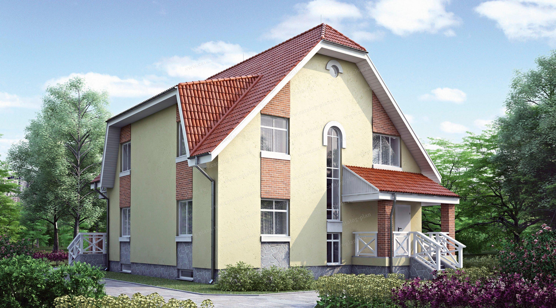 Проект жилой дом #32-30 материал - кирпич, стиль европейский