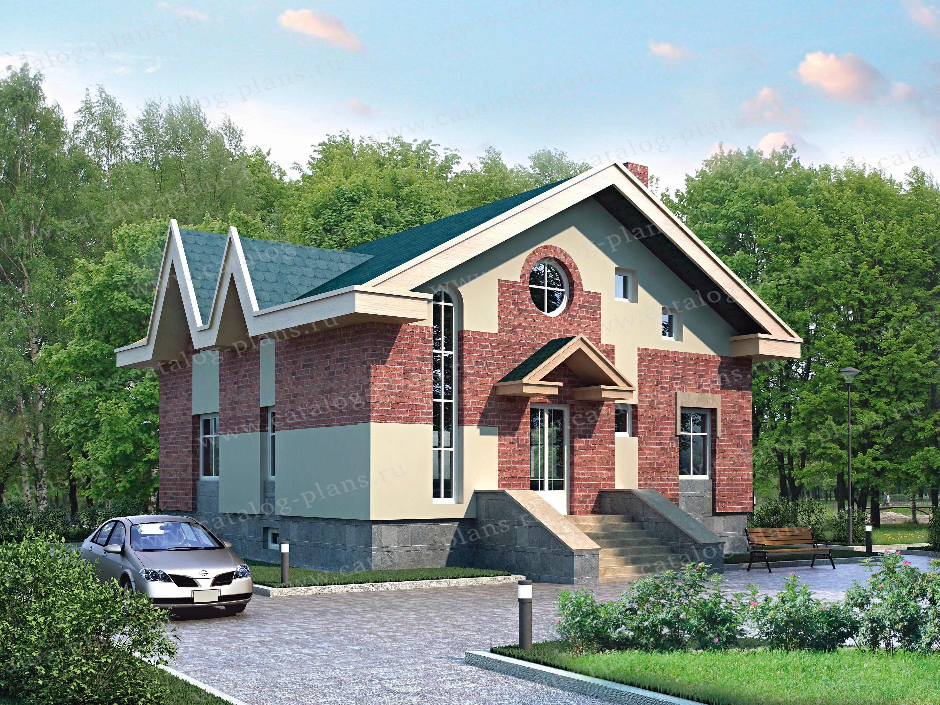 Проект жилой дом #33-30 материал - кирпич, стиль современный