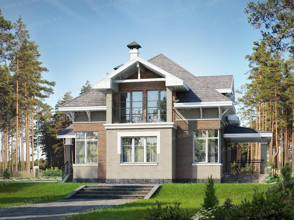 Проект жилой дом #47-22 материал - кирпич, стиль немецкий